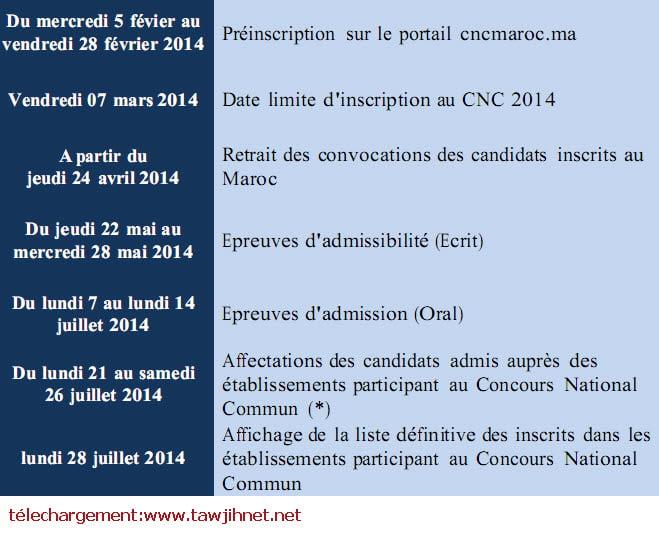 cnc concours national commun 2014