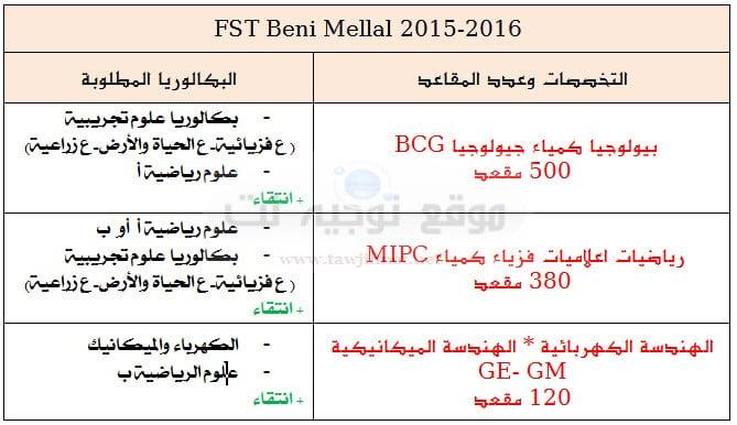 fst benimellal 2015
