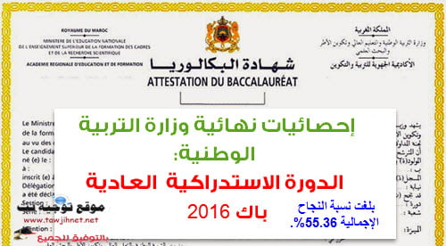 statistique-Baccalaureat-Maroc-2016