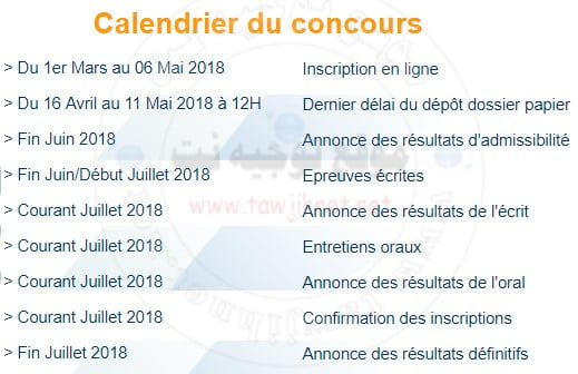 Concours d'accès licence Bac ISCAE 2018