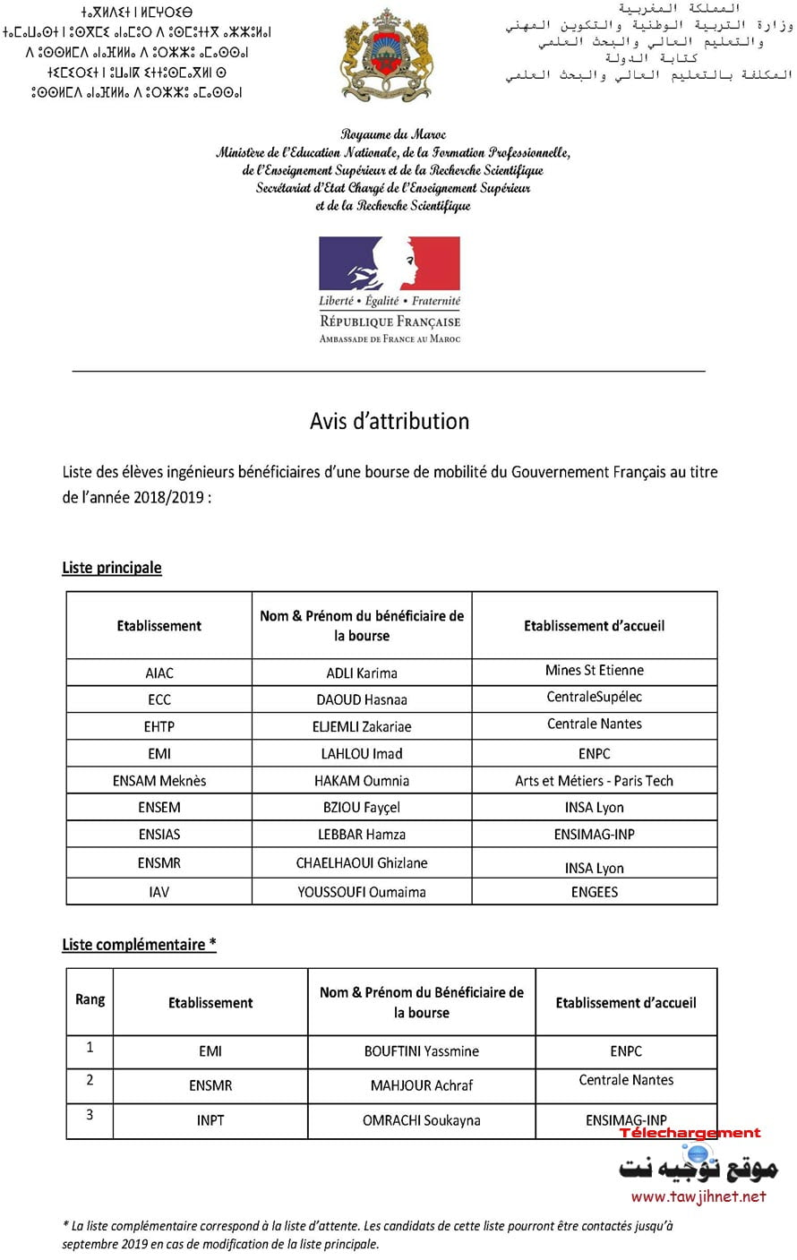 France-attributionbourse-mobilit%C3%A9-2018-2019