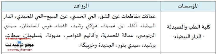 Bac Concours d'accès Faculté Médecine Casablanca (F.M Casa) 2018-2019 الطب الدار البيضاء