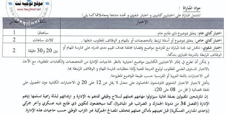 Préselection Concours recrutement 250 Adjoints administratifs Administration Douanes 2018