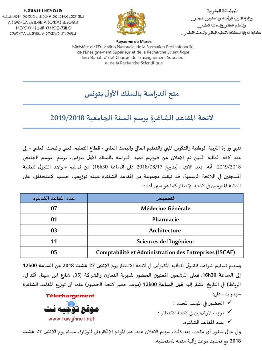 bourses-tunisie-2018