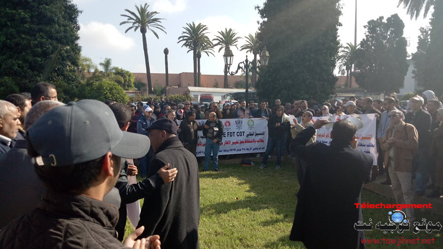 Coordination-syndicale-elargie-CDT-FNE-FDT-Greve-sit-in-Rabat-3
