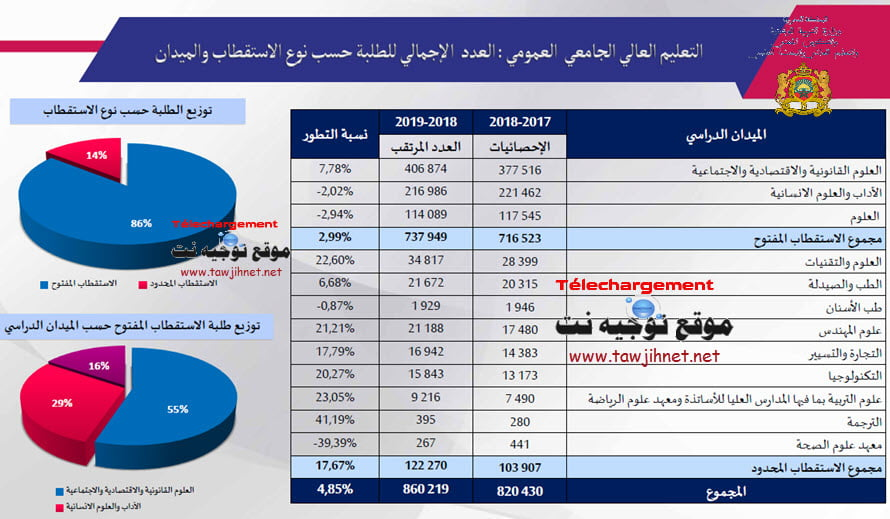 statistiques-branches-superieur-maroc-2018-2019