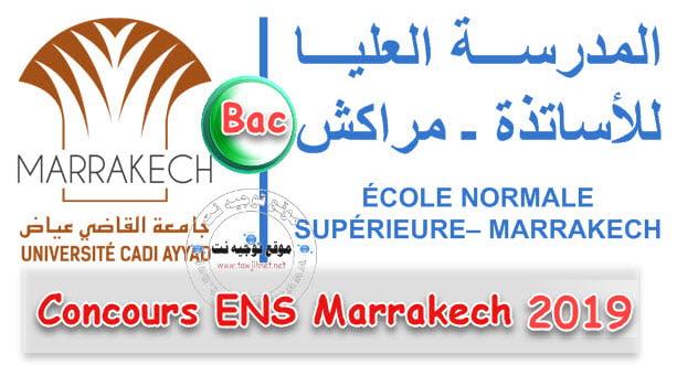 Preselection et listes ENS MarrakechBac CLE et DUT  2019 2020