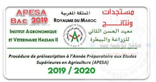 Résultatsdéfinitifs APESA Rabat 2019