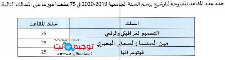 Concours ENSAD Casa Ecole Nationale Supérieure Art Design 2019 2020