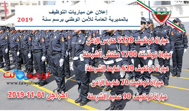 Concours police Maroc 2019