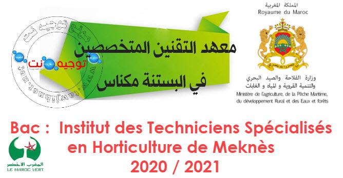 Concours Institut Techniciens Spécialises Meknes ITSHM 2020-2021 معهد مكناس