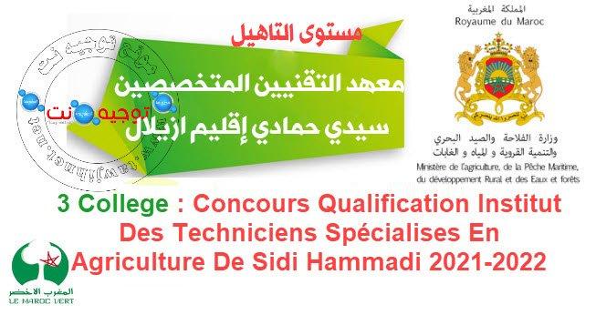 سيدي حمادي مستوى الـتأهيل عامل المتجات الفلاحية Qualification Opérateur des produits Laitiers