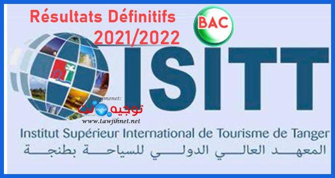 Résultats sélection concours ISIT Tanger ISITT 2021 2022