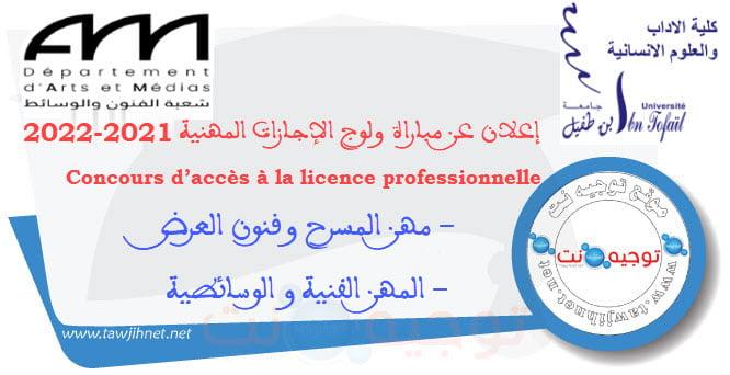 Bac Licences professionnelles Arts et Médias   FLSH Kenitra Département d'Arts et Médias 2021- 2022 Les métiers Artistiques et Médiatiques métiers de Théâtre et Arts du spectacle