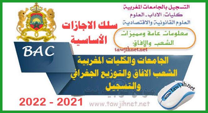 inscription universités facultés Maroc FLSH FSESJ FS 2021 2022