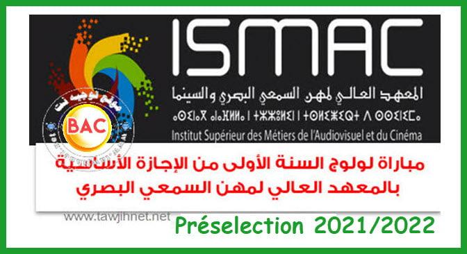 Préselection Concours ISMAC Rabat 2021 - 2022