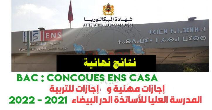 Resultats ENS Casa casablanca CLE LP 2021 2022